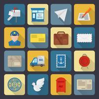 Post dienst pictogrammen