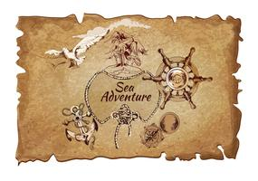 Zee avontuur oude poster
