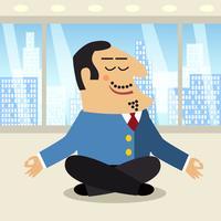 Boss-meditatiescène vector