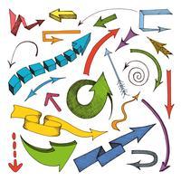 Pijlen gekleurd pictogram