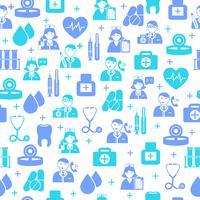 Medische naadloze patroonachtergrond