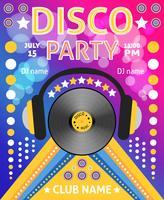 disco feestaffiche vector