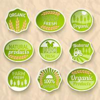 Landbouw oogst en landbouw stickers vector