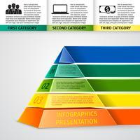 Piramide 3d infographics