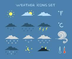 Weersverwachting Icons Set vector