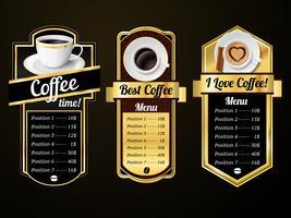 Koffie ontwerpsjablonen vector