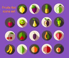 Fruit pictogrammen plat vector