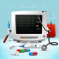 Realistische medische accessoire set vector