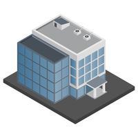 Kantoorgebouw isometrisch vector