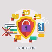 Bescherming conceptuele afbeelding ontwerp vector
