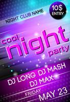 Nacht feest poster