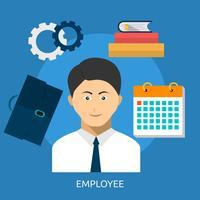 Ontwerp van de werknemer het conceptuele illustratie