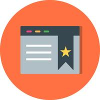 Vector Bookmarked paginapictogram
