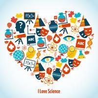 Onderwijs hart concept vector