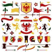 Heraldische set gekleurd