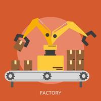 Fabrieksconceptuele illustratieontwerp vector