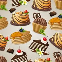 Snoepjes dessert naadloze patroon vector