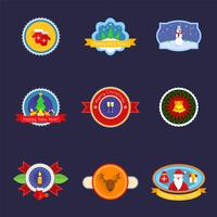 Kerstset label vector