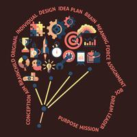 Idee hoofd concept vector