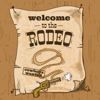 rodeo retro poster vector