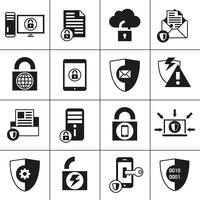 Gegevensbeveiliging Beveiligingspictogrammen