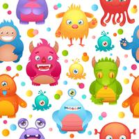 Monsters naadloos patroon vector