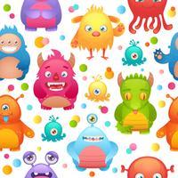 Monsters naadloos patroon vector