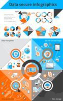 Gegevens veilige infographics vector