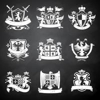 Heraldische schoolbordemblemen vector
