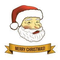 Kerst pictogram van de Kerstman vector