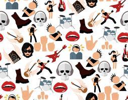 Rockmuziek naadloos patroon vector