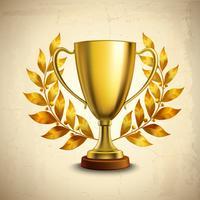 Gouden trofee embleem