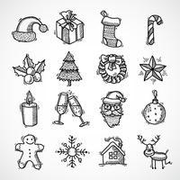 Kerst iconen instellen vector