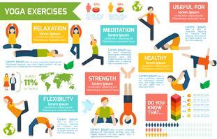 Yoga infographics instellen vector