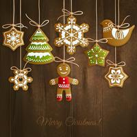 Kerst koekjes achtergrond