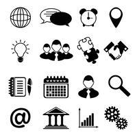 Zakelijke pictogrammen zwart vector