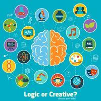 Hersenen wetenschap concept vector