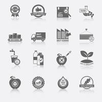 Pictogrammen voor kwaliteitscontrole vector