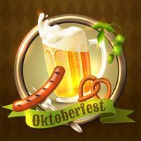 Oktoberfest festival achtergrond vector