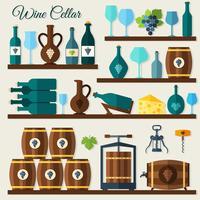 Wijnkelder pictogrammen