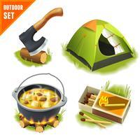 Camping pictogrammen instellen