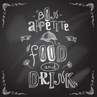 Restaurant schoolbord type