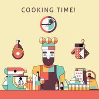 Kooktijd poster vector