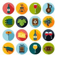 Wijn Icons Set vector