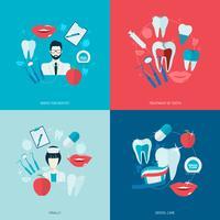Tandenpictogrammen plat