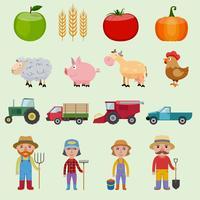 Boerderij pictogrammen instellen