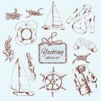 Yachting schets set
