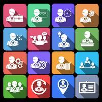 Pictogrammen voor bedrijven en management vector