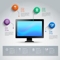 Computer infographic sjabloon vector
