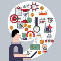 Tijd management concept vector